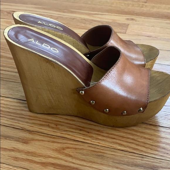 Aldo Shoes   Wooden Platform Wedges